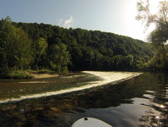 Kolpa river sitio de stand up paddle / paddle surf en Eslovenia