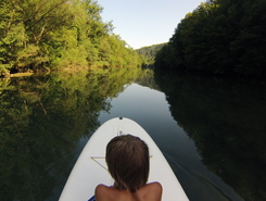 Kolpa river spot de stand up paddle en Slovénie