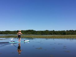 Lac de Souston sitio de stand up paddle / paddle surf en Francia