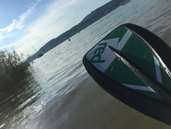 Muntelier paddle board spot in Switzerland