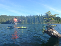 sayward canoe route day one paddle board spot in Canada