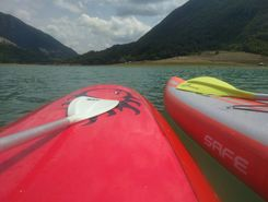 lago del turano paddle board spot in Italy