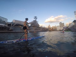 Pier 84 Manhattan sitio de stand up paddle / paddle surf en Estados Unidos