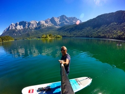 Eibsee paddle board spot in Germany