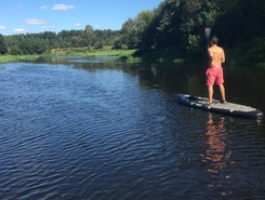 Krekenava paddle board spot in Lithuania