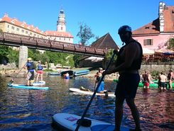 Vltava paddle board spot in Czech Republic