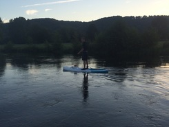 Pont authou paddle board spot in France