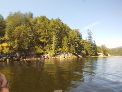 Sechelt Inlet paddle board spot in Canada