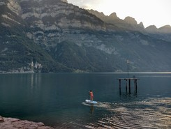 Zeltplatz Murg paddle board spot in Switzerland