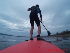 Blackie Spit paddle board spot in Canada