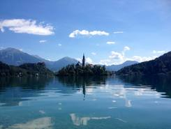 Lago Bled paddle board spot in Slovenia