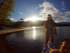 Lago Bled sitio de stand up paddle / paddle surf en Eslovenia