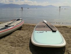 Preverenges paddle board spot in Switzerland