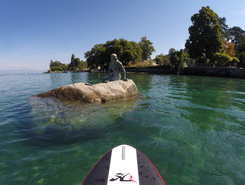 port de bellerive  paddle board spot in Switzerland