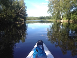 Lestijoki paddle board spot in Finland