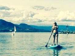 Lake Okanagan spot de stand up paddle en Canada