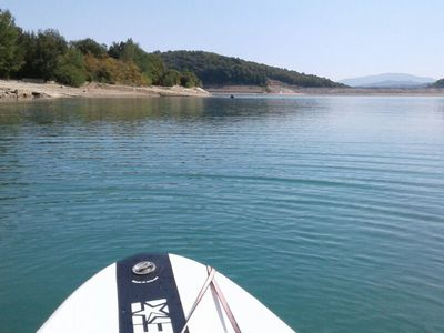 Lago Bilancino paddle board spot in Italy