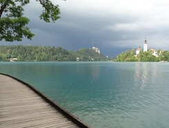 Zaka paddle board spot in Slovenia