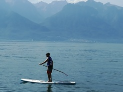 le pierrer paddle board spot in Switzerland