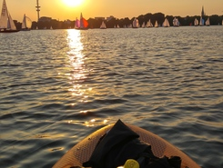 Alster paddle board spot in Germany