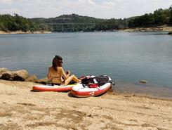 Barragem Aguieira - Rio Mondego sitio de stand up paddle / paddle surf en Portugal