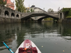 Ljubljanica - Center LJ paddle board spot in Slovenia