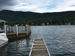 Lake George paddle board spot in United States