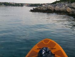 nice morning recreation  paddle board spot in Croatia