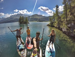 St Moritz paddle board spot in Switzerland