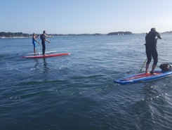 Pen er Men paddle board spot in France