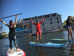 Eastern Docklands paddle board spot in Netherlands