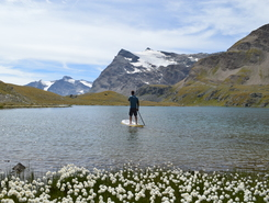 gran paradiso paddle board spot in Italy