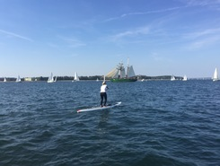 Kieler Förde paddle board spot in Germany