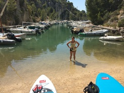 Calanques Cassis Frankrijk paddle board spot in France
