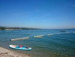 Plage de Versoix paddle board spot in Switzerland