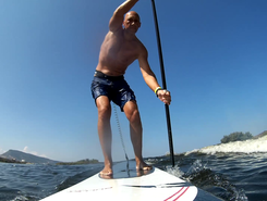La Foce paddle board spot in Italy