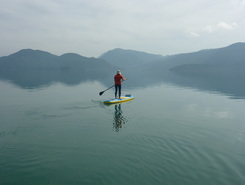 Walchensee paddle board spot in Germany
