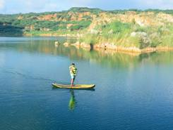 Lake Shangri la paddle board spot in India
