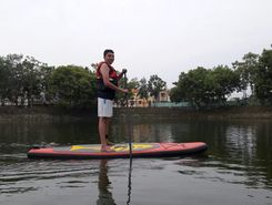 Lake Abdul kalam paddle board spot in India