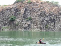 Lake Ottiyambakkam paddle board spot in India