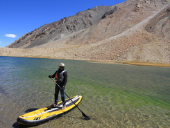 Lake Tsoltak paddle board spot in India
