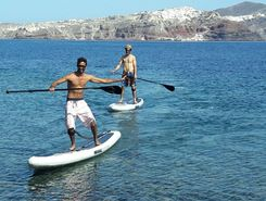 thirasia paddle board spot in Greece