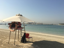 Palm jumeira paddle board spot in United Arab Emirates