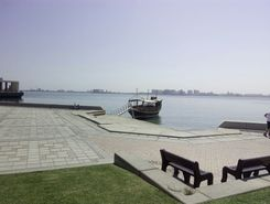 down the corniche paddle board spot in Qatar