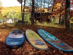 Lac saint-Joseph paddle board spot in Canada