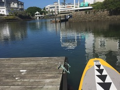 Knysna  paddle board spot in South Africa