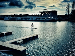 Winterhafen, Linz, Austria paddle board spot in Austria