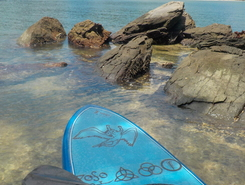 Praia do Sahy paddle board spot in Brazil