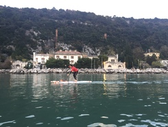 Aurisina Filtri paddle board spot in Italy