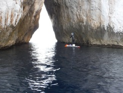 Masua paddle board spot in Italy